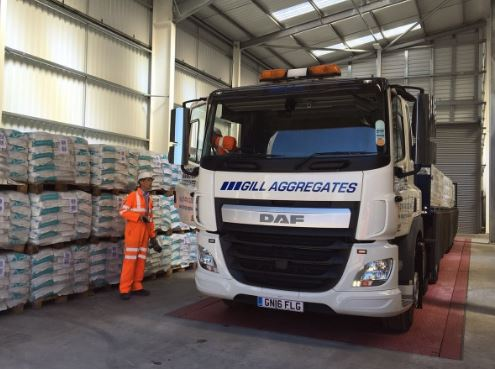 Gill Aggregates becomes first customer to collect bagged cement